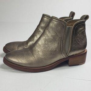 Women's gold Tory Burch Metallic booties size 6 M
